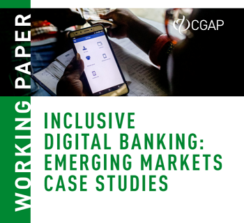 "Cover of ""Inclusive Digital Banking: Emerging Markets Case Studies"" report"