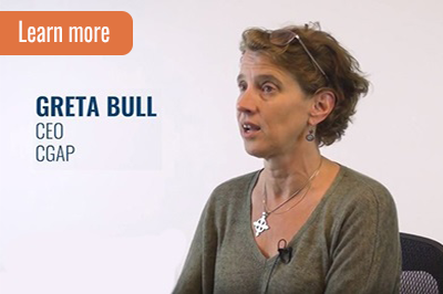 Greta Bull, CGAP CEO, speaks about open APIs and financial inclusion